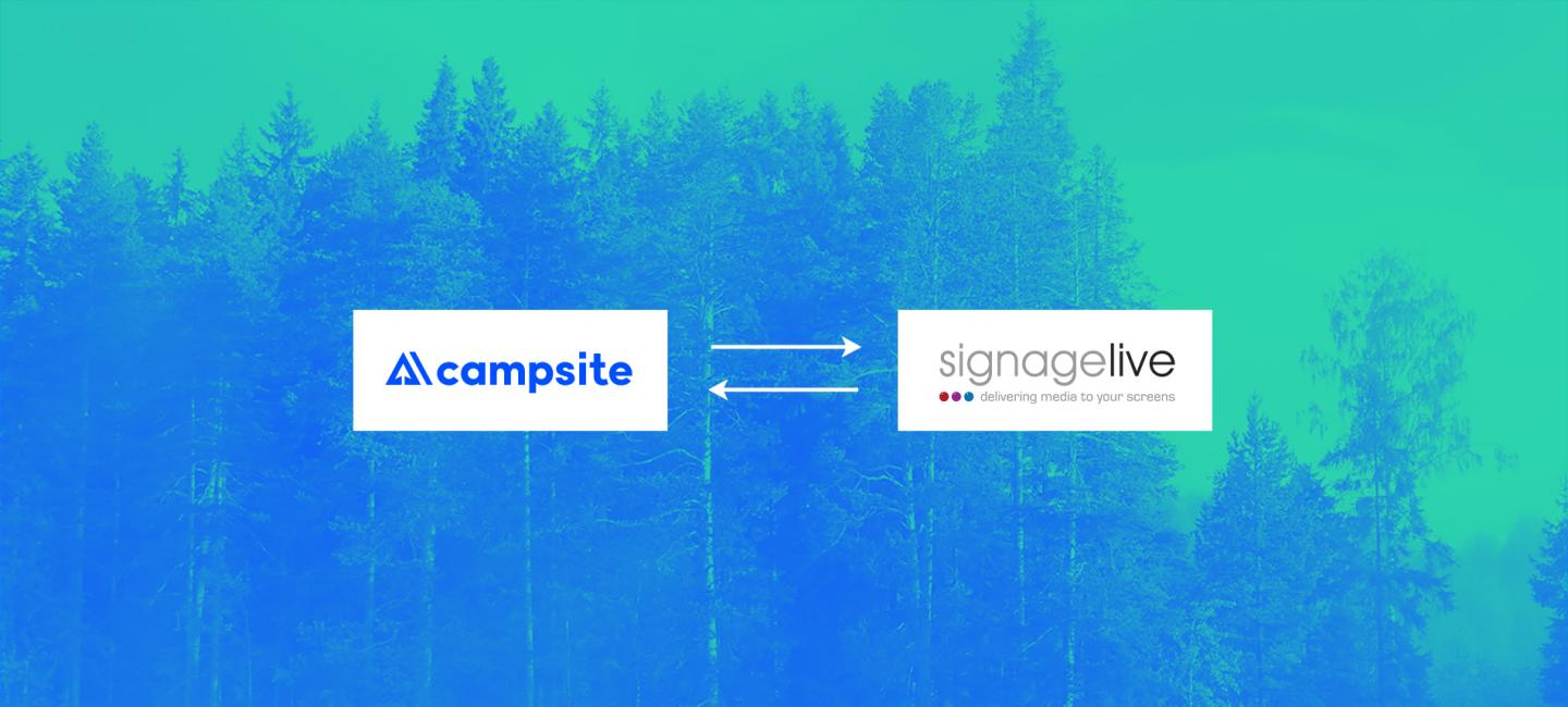 Campsite Partners with Cloud-based CMS Software Signagelive