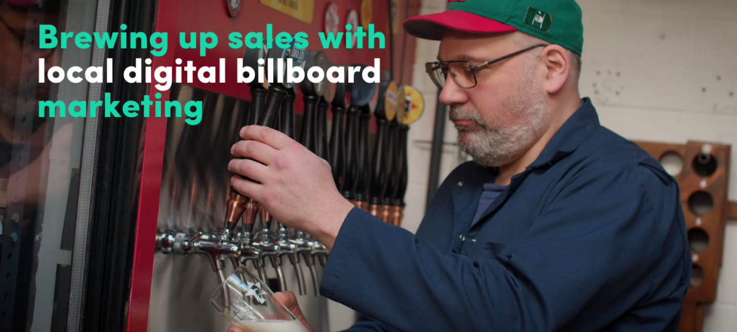 How a craft brewer launched his own community-focused digital billboard campaign
